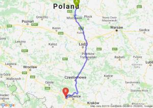 Trasa Lipno - Gliwice