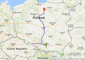 Myślenice (małopolskie) - Nowe Miasto Lubawskie (warmińsko-mazurskie)