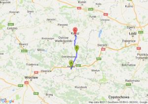 Kępno (wielkopolskie) - Grabów Nad Prosną (wielkopolskie) - Kalisz (wielkopolskie)