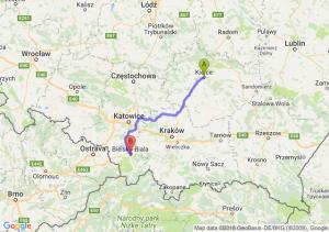 Trasa Kielce - Bielsko-Biała
