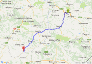 Lublin (lubelskie) - Ostrowce (świętokrzyskie)