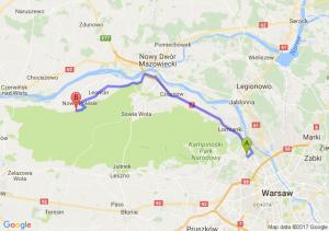 Warszawa Metro Młociny - Leoncin Pow. Nowodworski