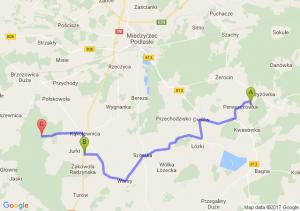 Drelów (lubelskie) - Żakowola Poprzeczna (lubelskie) - Kąkolewnica (lubelskie)