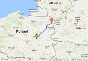 Warszawa - Lipsk (podlaskie)