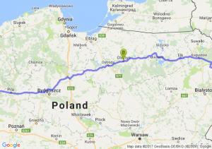 16-123 Kużnica - Olsztyn (warmińsko-mazurskie) - Człopa (zachodniopomorskie)