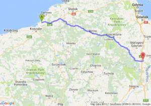 Bielkowo (koło Koszalina) (zachodniopomorskie) - Lipia Góra (pomorskie)