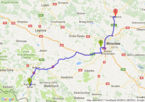 Kamienna Gora - Smolec (dolnośląskie) - Trzebnica (dolnośląskie)