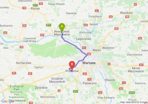 Trasa Nowy Dwór Mazowiecki - Pruszków