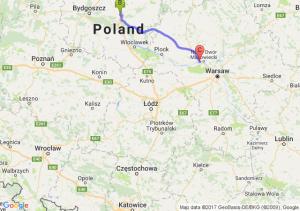 Rusocin (pomorskie) - Turzno (kujawsko-pomorskie) - Łódź (łódzkie)