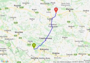 Trasa Kędzierzyn-Koźle - Łowicz