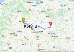Trasa Bydgoszcz - Ciechanów