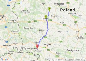 Wągrowiec (wielkopolskie) - Poznań - Dobromierz (dolnośląskie)