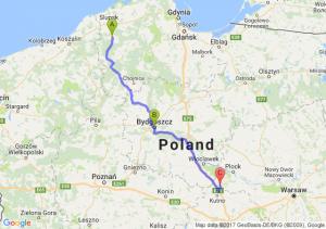 Suchorze (pomorskie) - Bydgoszcz (kujawsko-pomorskie) - Sierakówek (mazowieckie)
