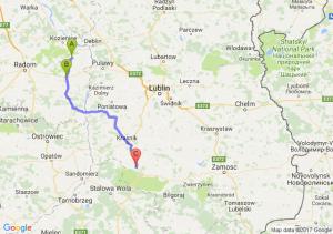 Garbatka-letnisko - Zwoleń (mazowieckie) - Modliborzyce (lubelskie)