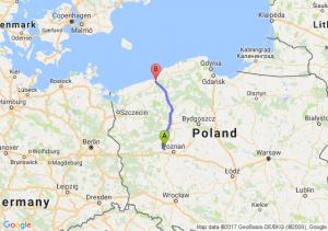 Młodasko (wielkopolskie) - Koszalin (zachodniopomorskie)