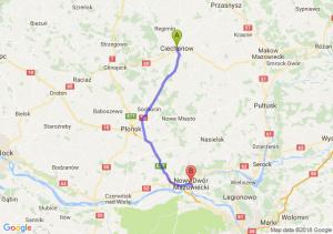 Trasa Ciechanów - Nowy Dwór Mazowiecki