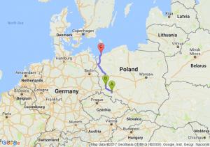 Jaroszów (dolnośląskie) - Leszno Górne (lubuskie) - Pustkowo (zachodniopomorskie)