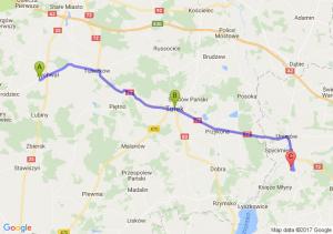 Rychwał (wielkopolskie) - Turek (wielkopolskie) - Dominikowice (łódzkie)