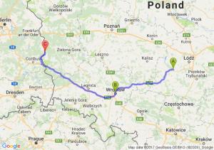 Zd Wola  - Wroclaw - Gubin (lubuskie)