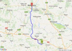 Turek (wielkopolskie) - Bydgoszcz (kujawsko-pomorskie)