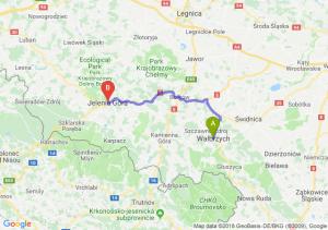 Trasa Wałbrzych - Jelenia Góra