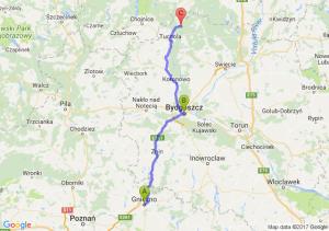 Gniezno (wielkopolskie) - Bydgoszcz (kujawsko-pomorskie) - Biała (pomorskie)