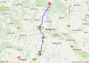 Gniezno (wielkopolskie) - Nakło Nad Notecią (kujawsko-pomorskie) - Biała (pomorskie)