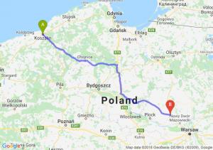 Trasa Koszalin - Płońsk