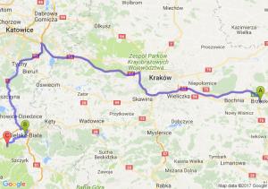 Brzesko (małopolskie) - Bielsko Biala - Jaworze Ul
