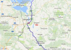 Jelenia Góra (dolnośląskie) - Legnica (dolnośląskie) - Łukęcin (zachodniopomorskie)