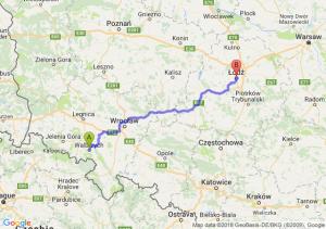 Trasa Wałbrzych - Łódź