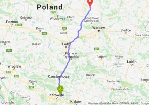 Trasa Dąbrowa Górnicza - Ciechanów