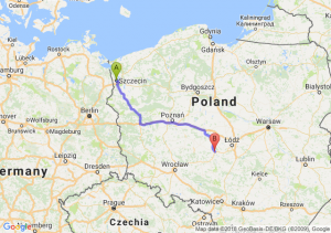 Trasa Szczecin - Sieradz