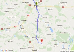Szaniawy - Radzyń Podlaski (lubelskie) - Tarło (lubelskie) K/ Lubartowa