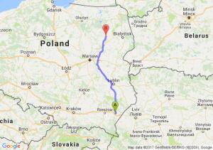Trasa Jarosław - Łomża