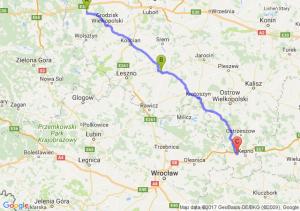 Nowy Tomysl (wielkopolskie) - Gostyn Krotoszyn - Bralin (wielkopolskie)