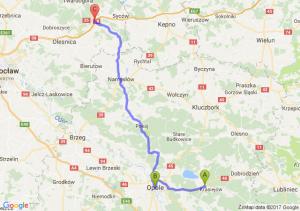 Ozimek (opolskie) - Opole (opolskie) - Szczodrów (dolnośląskie)
