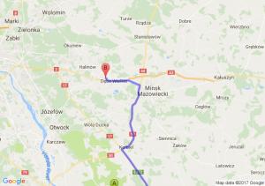 Osieck (mazowieckie) - Aleksandrówka (mazowieckie)