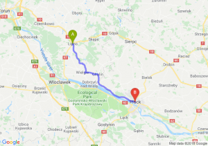 Trasa Lipno - Płock