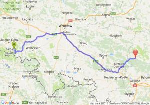 Kowary (dolnośląskie) - Lubliniec (śląskie)
