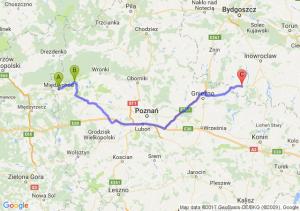 Międzychód (wielkopolskie) - Sieraków (wielkopolskie) - Kwieciszewo (kujawsko-pomorskie)