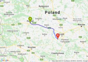 Trasa Poznań - Łask