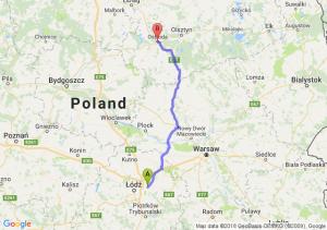 Trasa Brzeziny - Ostróda