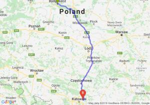 Trasa Bydgoszcz - Dąbrowa Górnicza