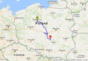 Bydgoszcz (kujawsko-pomorskie) - Żarnów (łódzkie)