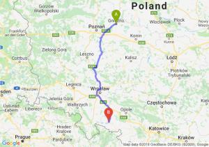 Trasa Gniezno - Nysa