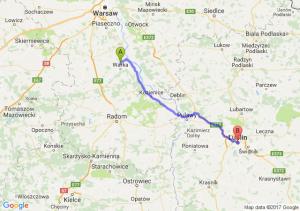 Piaseczno (koło Warki) (mazowieckie) - Lublin (lubelskie)