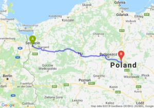 Trasa Szczecin - Toruń
