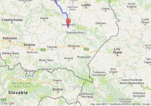 Elbląg (warmińsko-mazurskie) - Warszawa (mazowieckie) - Sandomierz (świętokrzyskie)