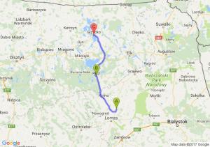Kobylin (podlaskie) - Pisz (warmińsko-mazurskie) - Giżycko (warmińsko-mazurskie)
